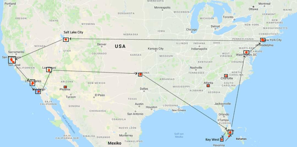 USA 2019 10 Cities in 18 Days