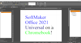 Using SoftMaker Office and FreeOffice as full versions on Chrome OS