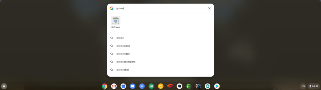 How to start the Gnome Software Center