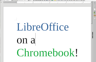 Chrome OS: What about LibreOffice?