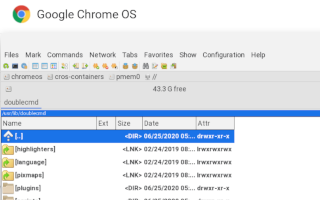 Chrome OS: a file manager for Linux? [A]