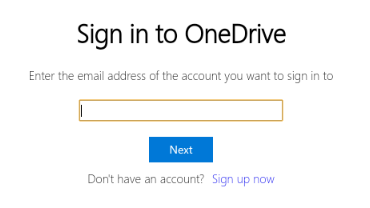 AutoSync for OneDrive on Chrome OS: Signing in to OneDrive