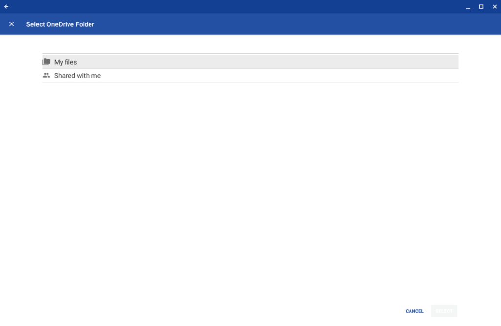 Setting up AutoSync for OneDrive on Chrome OS Step 6