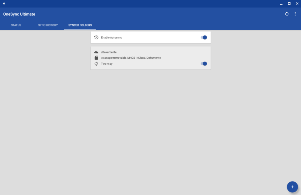 Setting up AutoSync for OneDrive on Chrome OS Step 21